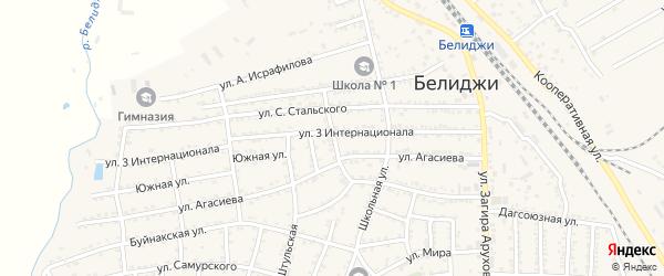 Махачкалинская улица на карте поселка Белиджи с номерами домов