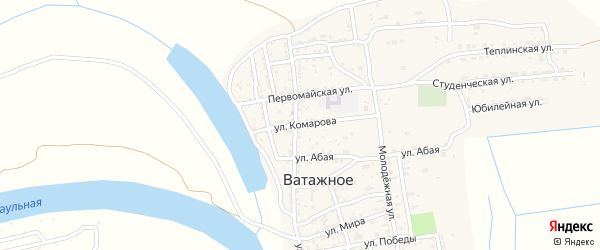 Улица Комарова на карте Ватажного села с номерами домов