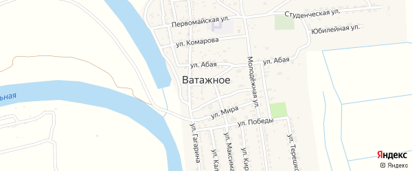 Теплинская улица на карте Ватажного села с номерами домов