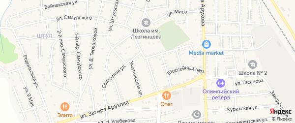Улица Салихова на карте поселка Белиджи с номерами домов