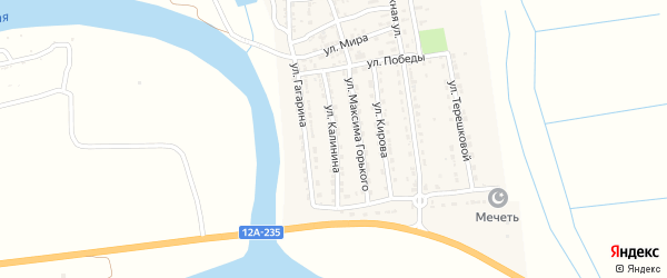 Улица Калинина на карте Ватажного села с номерами домов