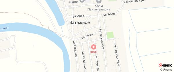 Улица Мира на карте Ватажного села с номерами домов