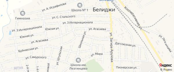 Октябрьская улица на карте поселка Белиджи с номерами домов
