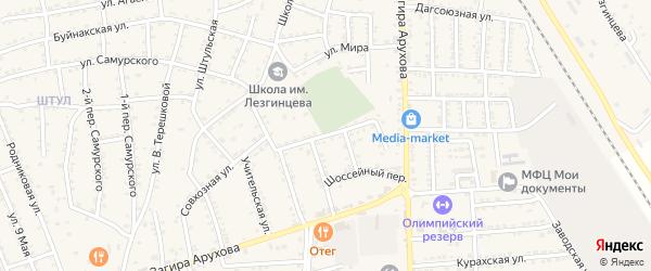 Улица Маяковского на карте поселка Белиджи с номерами домов