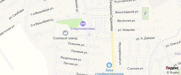 Больничная улица на карте поселка Белиджи с номерами домов