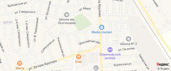 Улица В.Эмирова на карте поселка Белиджи с номерами домов