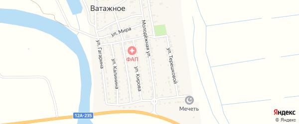 Молодежная улица на карте Ватажного села с номерами домов