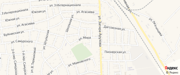 Улица Мира на карте поселка Белиджи с номерами домов