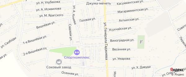 Рутульская улица на карте поселка Белиджи с номерами домов