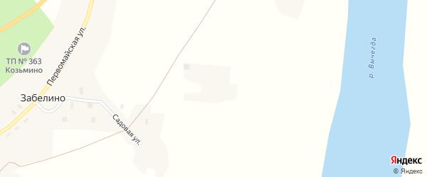 Садовая улица на карте деревни Забелино с номерами домов