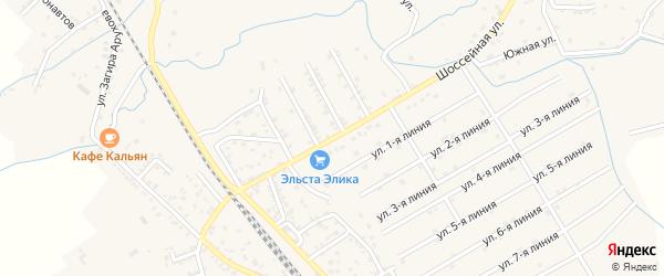 Продольная улица на карте поселка Белиджи с номерами домов