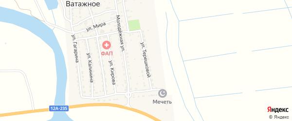 Улица Терешковой на карте Ватажного села с номерами домов
