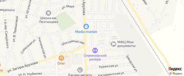 Заводской переулок на карте поселка Белиджи с номерами домов
