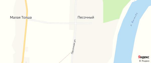 Песочная улица на карте Песочного поселка с номерами домов