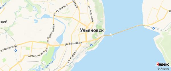 Карта Ульяновска с районами, улицами и номерами домов