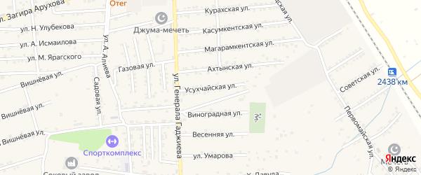 Уссухчайская улица на карте поселка Белиджи с номерами домов