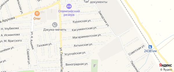 Магарамкентская улица на карте поселка Белиджи с номерами домов