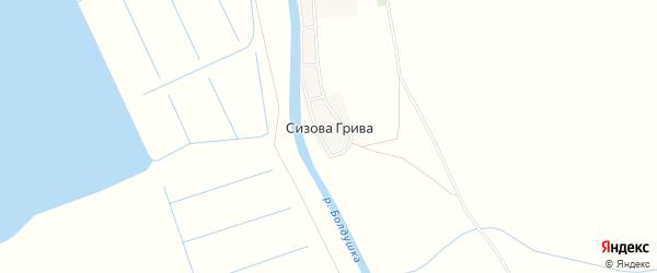 Карта поселка Сизовой Гривы в Астраханской области с улицами и номерами домов