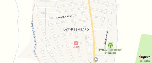 Улица Гагарина на карте села Бута-Казмаляра с номерами домов