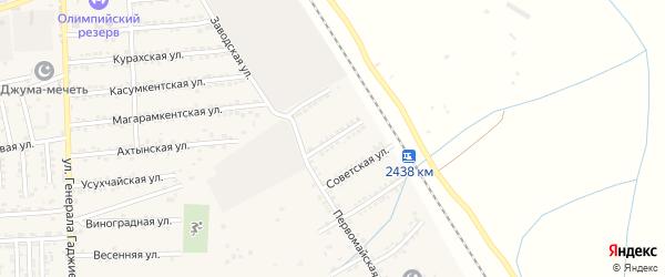 Улица А.Гаджимурадова на карте поселка Белиджи с номерами домов