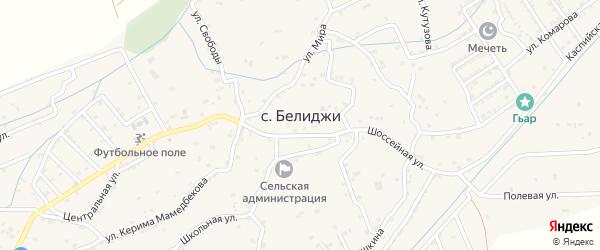 Мира 2-й переулок на карте поселка Белиджи с номерами домов