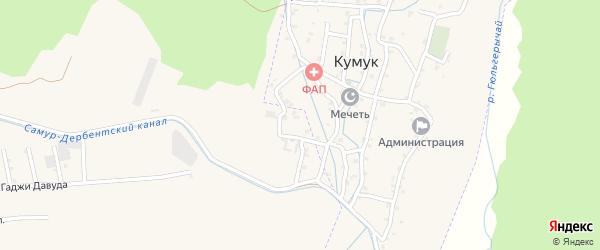 Улица Агабала Агабалаева на карте села Кумук с номерами домов