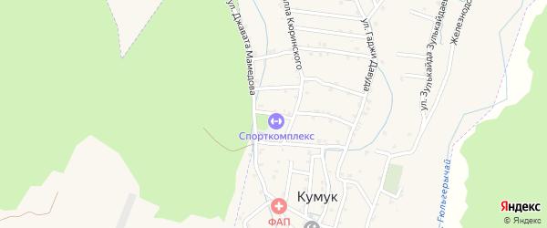 Переулок Малла Кюринского 5 на карте села Кумук с номерами домов