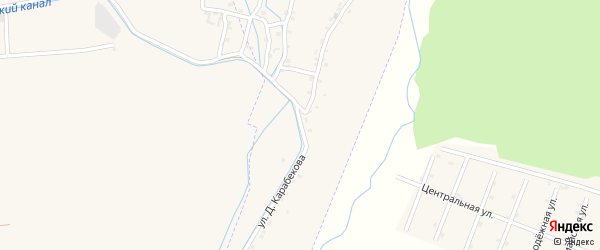 Улица Джамалдина Карабекова на карте села Кумук с номерами домов