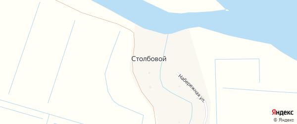 Участок Саргино на карте Столбового поселка с номерами домов