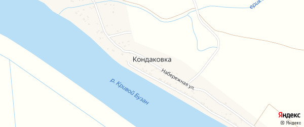 Улица им Зиброва на карте поселка Кондаковки с номерами домов