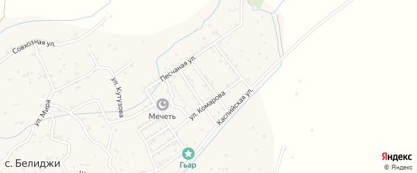 Комсомольская улица на карте поселка Белиджи с номерами домов
