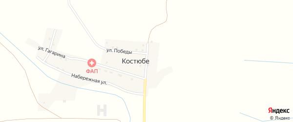 Абая улица на карте поселка Костюбе с номерами домов