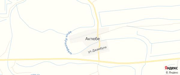 СТ сдт Трикотажник-2 на карте села Актюбе с номерами домов