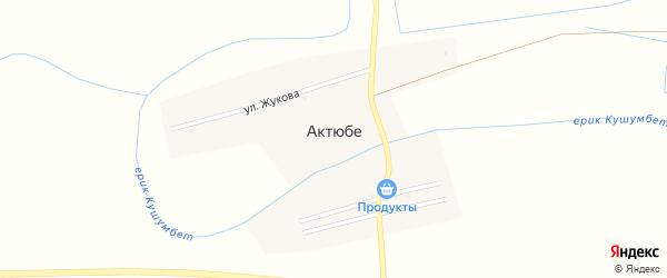 Набережная улица на карте села Актюбе с номерами домов