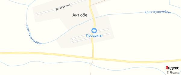 Молодежная улица на карте села Актюбе с номерами домов