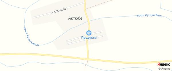 Улица Джамбула на карте села Актюбе с номерами домов
