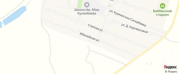 Юбилейная улица на карте села Байбека с номерами домов