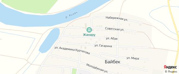 Абая улица на карте села Байбека с номерами домов
