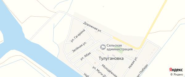 Звездная улица на карте села Тулугановка с номерами домов