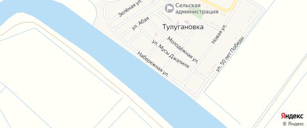 Набережная улица на карте села Тулугановка с номерами домов