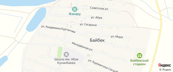 Улица Академика Курчатова на карте села Байбека с номерами домов