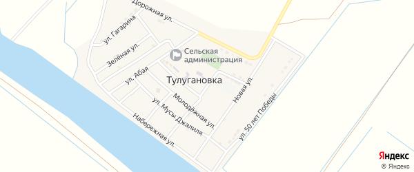 Школьная улица на карте села Тулугановка с номерами домов