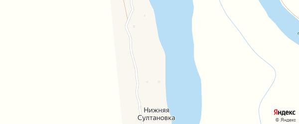 Остров Дуниловка на карте села Средней Султановка с номерами домов