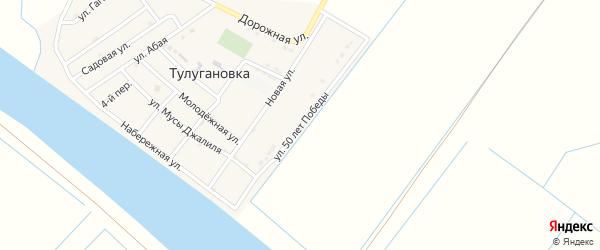 Улица 50 лет Победы на карте села Тулугановка с номерами домов