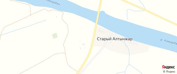 Дорожная улица на карте поселка Старого Алтынжар с номерами домов