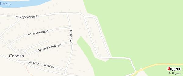 Новая улица на карте железнодорожной станции Кивера с номерами домов