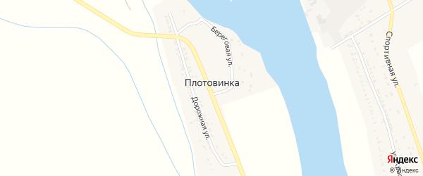 Береговая улица на карте поселка Плотовинка с номерами домов