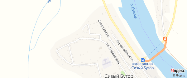 Улица Нариманова на карте села Сизого Бугра с номерами домов