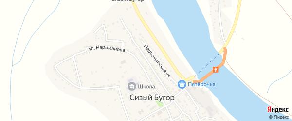 Советская улица на карте села Сизого Бугра с номерами домов