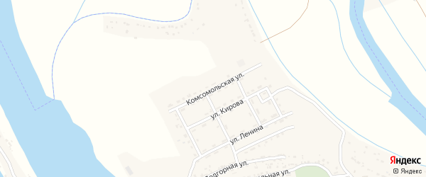 Комсомольская улица на карте села Тумака с номерами домов